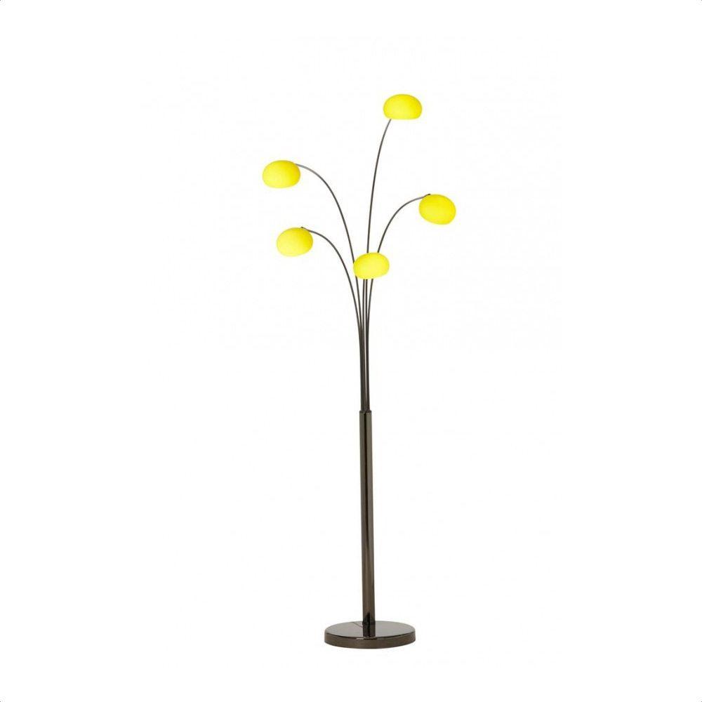 Danalight lounge 5 light floor lamp purple glasswells - Lounge 5 Floor Lamp Light Yellow