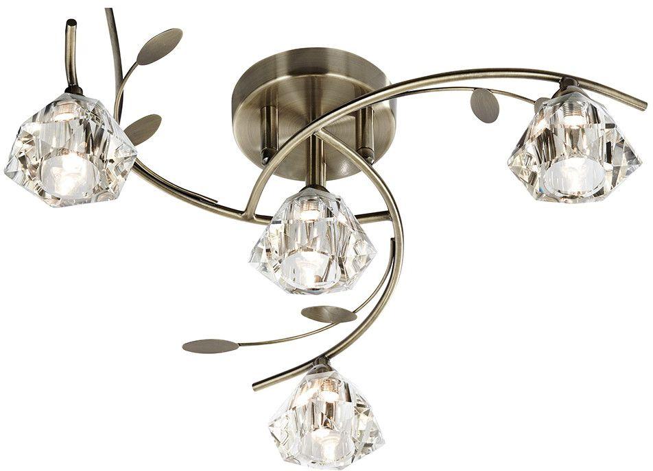 Sierra Antique Brass Semi Flush Ceiling Light Oldrids Do