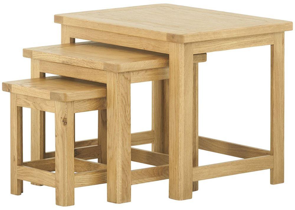 provence oak nest of tables oldrids downtown. Black Bedroom Furniture Sets. Home Design Ideas