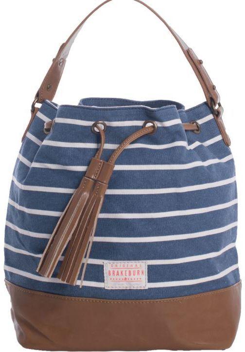 Brakeburn Stripe Canvas Navy Bucket Bag Oldrids