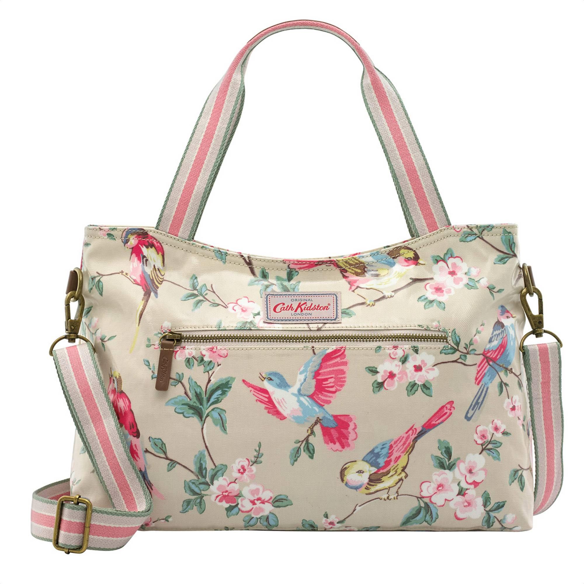 Cath Kidston British Birds Handbag With Removable Strap