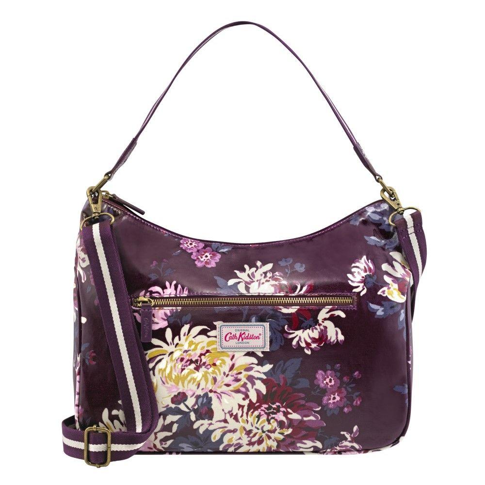 Curve Shoulder Bag - York Flowers Plum 02c1bfbf5b22f