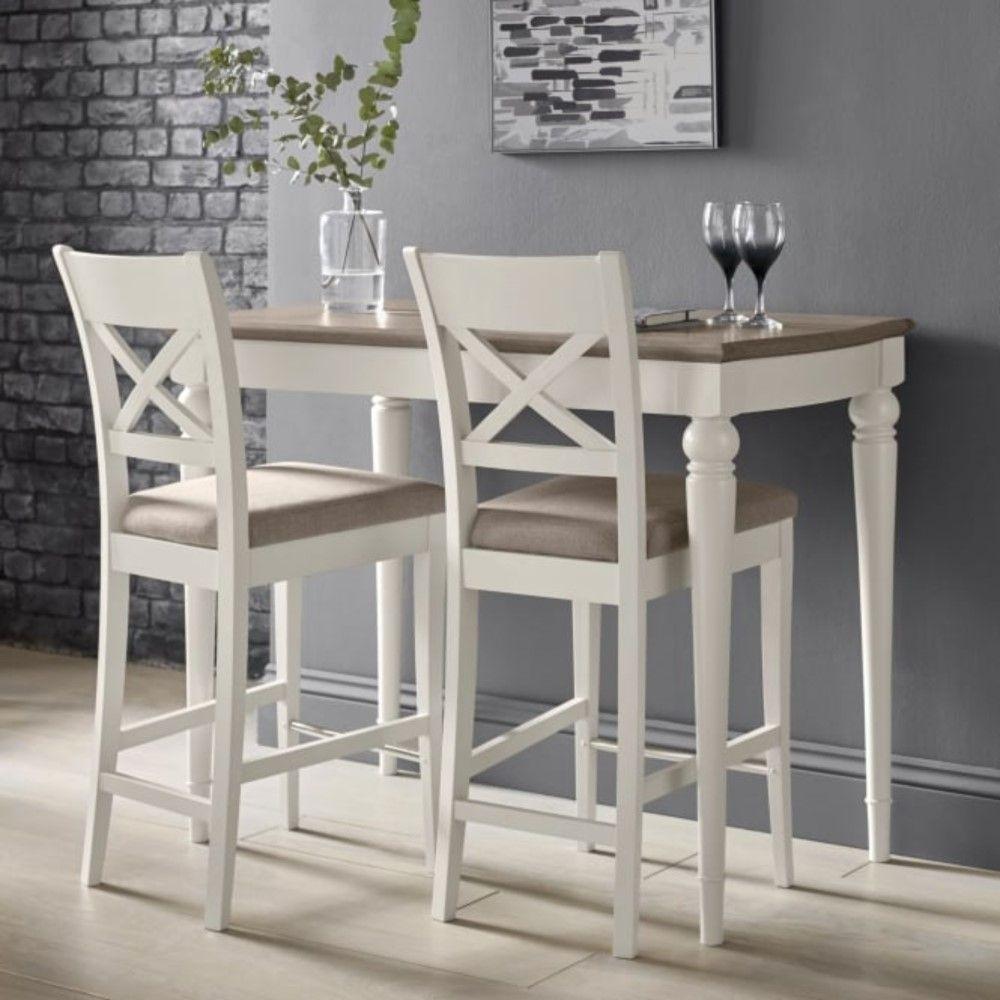 Montreal Grey Washed Oak & Soft Grey Bar Table Oldrids