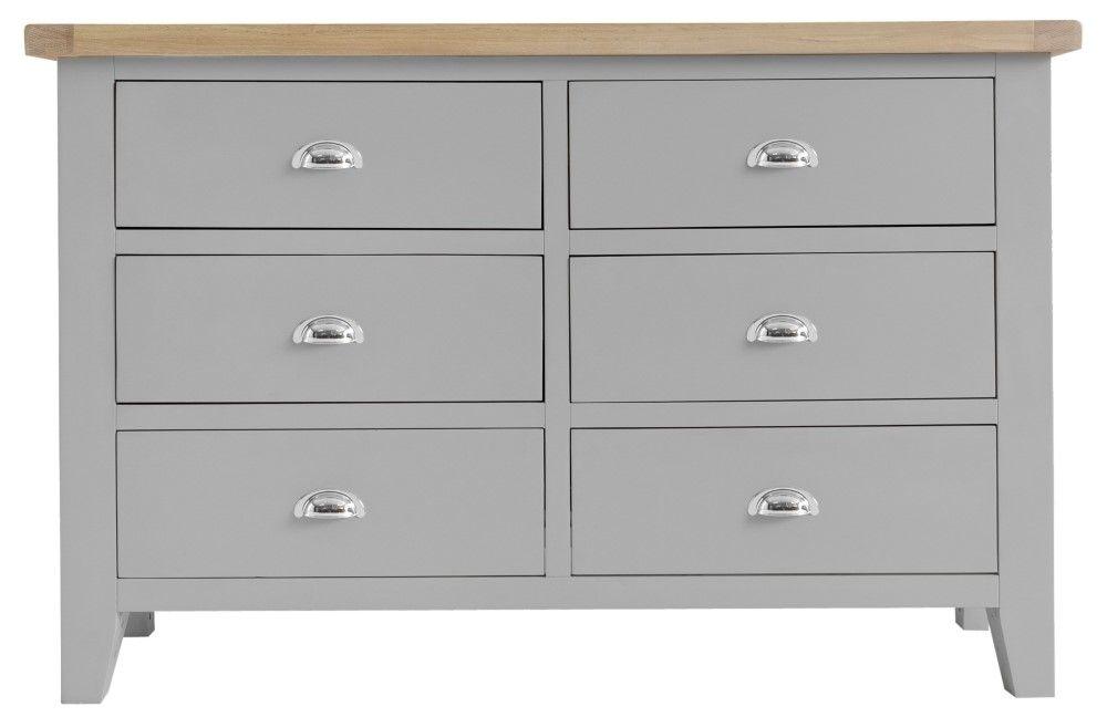 the latest 42c87 902d8 Trentham Grey 6 Drawer Chest