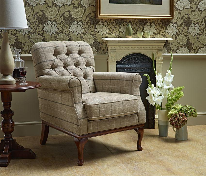 Wood Bros Burnham Fabric Armchair Oldrids Downtown
