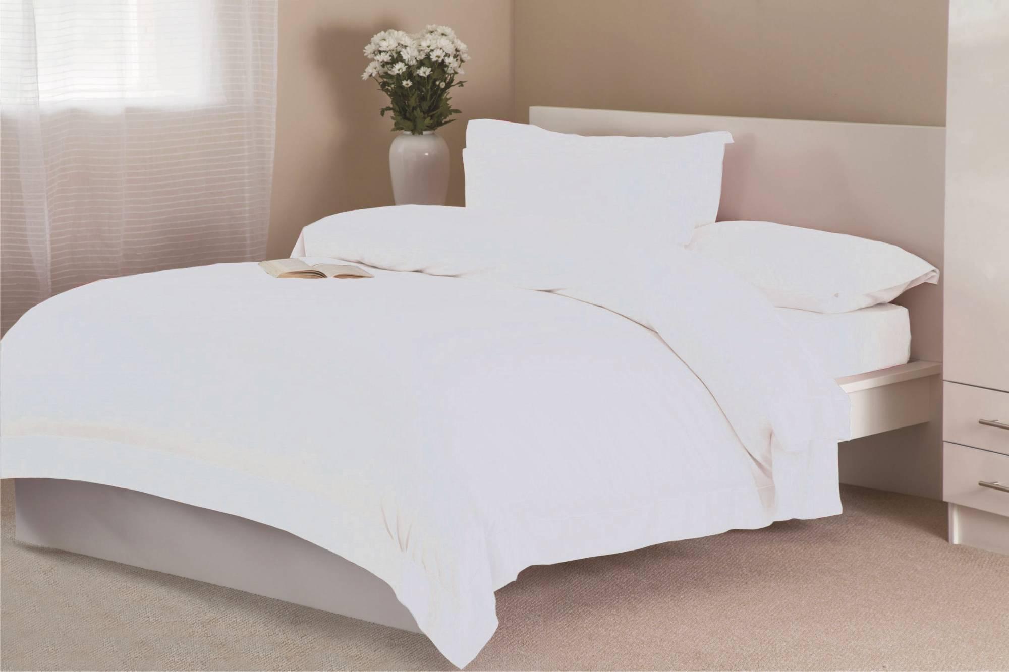 854595a73374 Belledorm Belledorm 400 Count Egyptian Cotton Duvet Cover - White ...