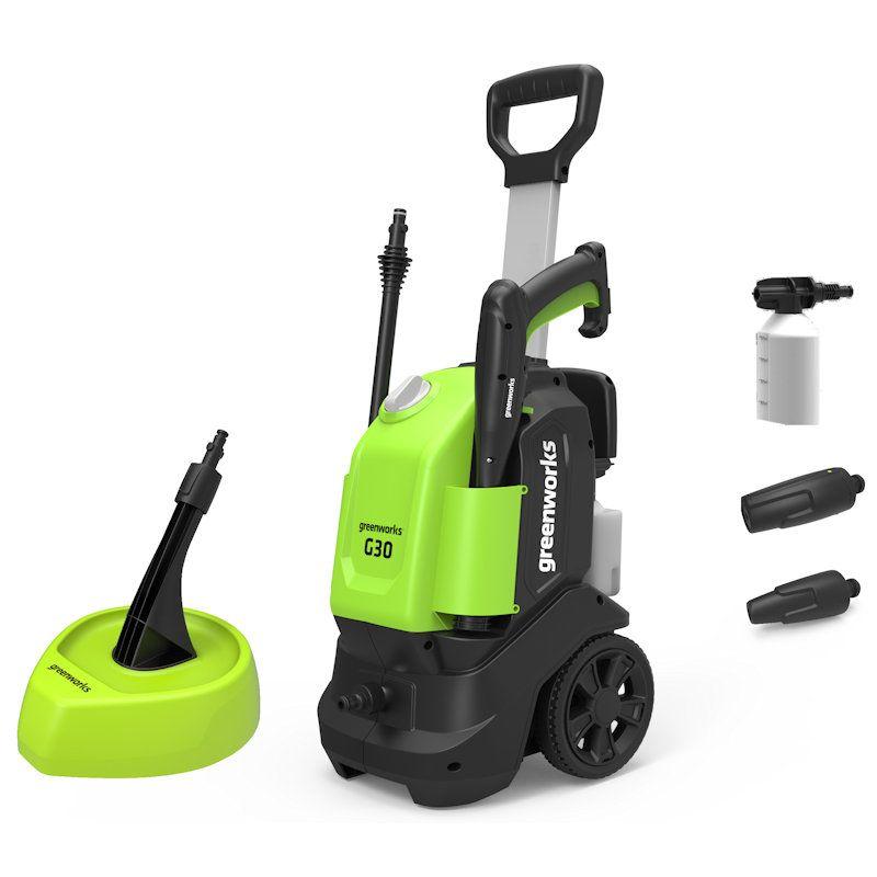 Greenworks G30 Pressure Washer with Patio Brush