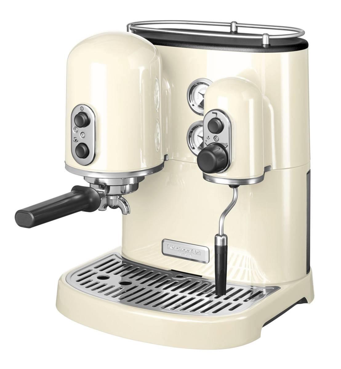 Kitchenaid 5kes2102bac Artisan Espresso Coffee Machine Almond Cream