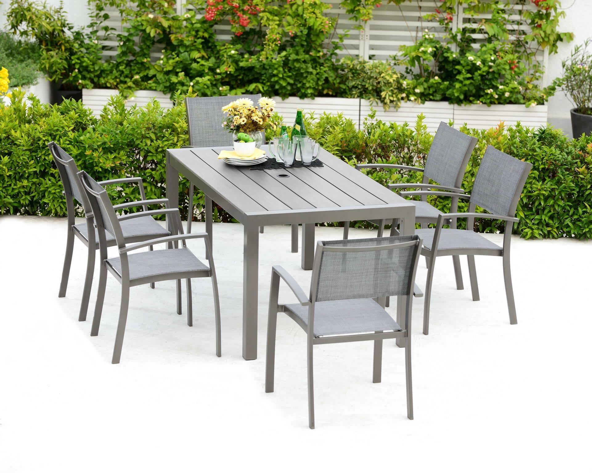 Solana 6 Seater Rectangular Garden Dining Set Oldrids