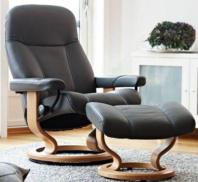 Remarkable Stressless Consul Chair Stool Set Creativecarmelina Interior Chair Design Creativecarmelinacom