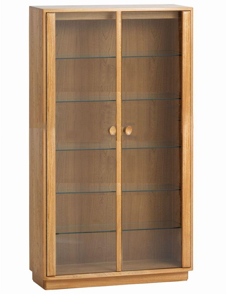 Ercol Windsor Medium Display Cabinet Oldrids Amp Downtown