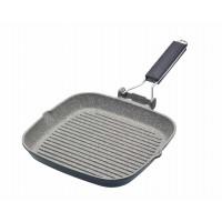 Cast Aluminium Folding Handle Grill Pan