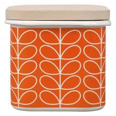 Orla Kiely Enamel Storage Jar Linear Stem Orange