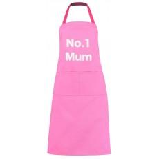 No.1 Mum Apron Pink