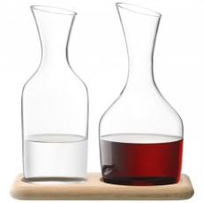 LSA Wine Carafe Set Of 2 Incl Base