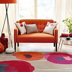 Sanderson Poppies Red/Orange 45700 Rug