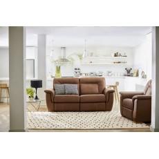 G Plan Elliot 2 Seater Leather Static Sofa