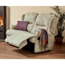 Sherborne Malvern Small 2 Seater Fabric Power Recliner Sofa