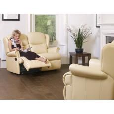 Sherborne Malvern Small 2 Seater Leather Manual Recliner Sofa