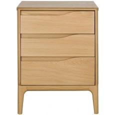 Ercol Rimini 3 Drawer Bedside Cabinet