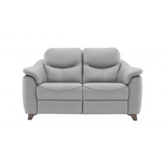 G Plan Jackson Leather 2 Seat Static Sofa