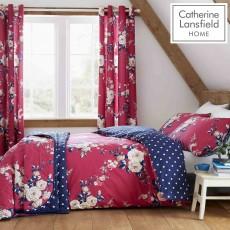 Catherine Lansfield Canterbury Quiltset Plum