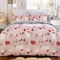 Bedlam Pink Polar Bears Duvet Cover Set