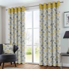 Fusion Copeland Eyelet Ochre Curtains