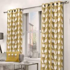 Fusion Haldon Eyelet Ochre Curtains