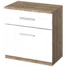 Stuttgart Sanremo Oak/Alpine White 2 Drawer Bedside Table
