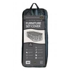 Garland Premium 8-10 Seater Rectangular Furniture Set Cover - Black