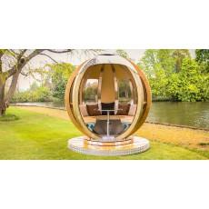 Ornate Garden Rotating Sphere Lounger