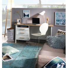 Chicago Alpine White/Sonoma Oak Desk