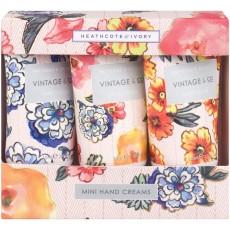 Heathcote & Ivory Vintage & Co Patterns & Petals - Mini Hand Creams