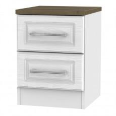 Kent 2 Drawer Locker - White Ash & Oak
