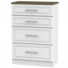 Kent 4 Drawer Deep Chest - White Ash Oak