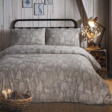 Fusion Winter Forest Linen Duvet Cover Set