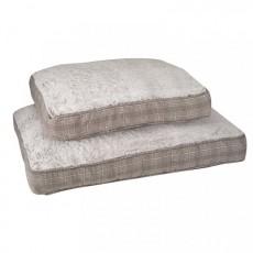 Zoon Grey Plaid Gussett Dog Mattress - Large