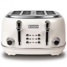 Haden 194220 Heritage 4 Slice Toaster - White