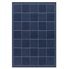 Oriental Weavers Checked Flatweave Blue Rug