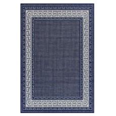 Oriental Weavers Greek Key Flatweave Blue Rug