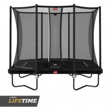 """BERG Ultim Favorit Regular 280 (9ft 2"""") Black Trampoline & Safety Net Comfort"""