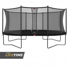 BERG Grand Favorit Regular 520 (17ft) Black Trampoline & Safety Net Comfort