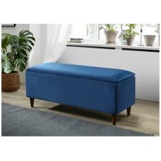 Emma Blue Storage Ottoman