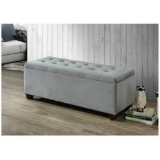 Lily Grey Storage Ottoman