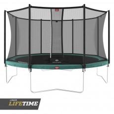 BERG Favorit Regular 330 (11ft) Green Trampoline & Safety Net Comfort
