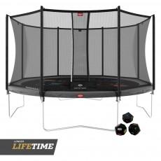 BERG Favorit Regular 430 (14ft) Grey Levels Trampoline & Safety Net Comfort