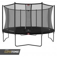 BERG Favorit Regular 380 (12.5ft) Black Trampoline & Safety Net Comfort