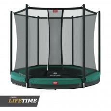 BERG Favorit Inground 330 (11ft) Green Trampoline & Safety Net Comfort