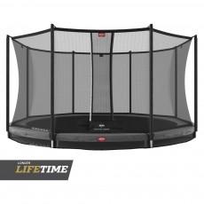 BERG Favorit Inground 430 (14ft) Grey Trampoline & Safety Net Comfort